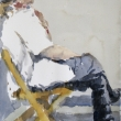 Guy in Folding Chair_10x14_Watercolor