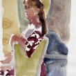 Woman Turning_12x16_Watercolor