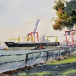Freighter unloaded_16x12_watercolor_2015