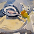 Bowl and Fruit_10x10_Watercolor