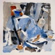 Still life on Blue_6x9_Watercolor