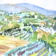 View of Vineyards from Parco del Prato, Arezzo_Watercolor